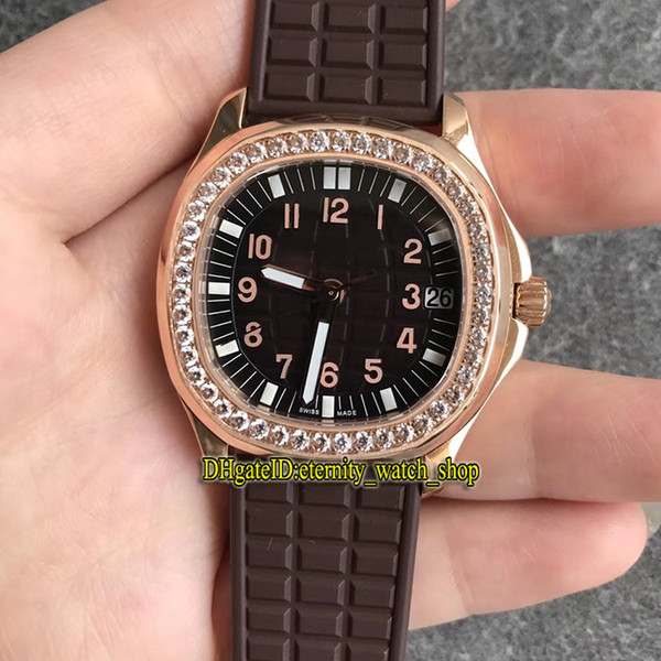 PP-Q38 (8) Rose gold case and brown dial