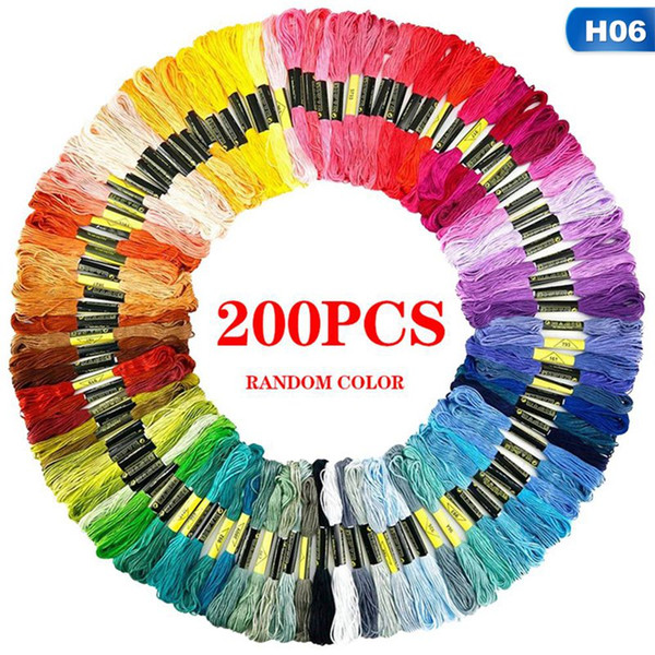 top popular 50 100 120 124 150 200 250 Pcs Anchor Similar Cross Stitch Cotton Embroidery Thread Floss Sewing Skeins Craft 2021