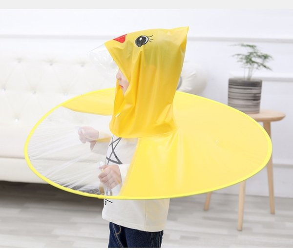 Flying Saucer Yellow Duck Raincoat