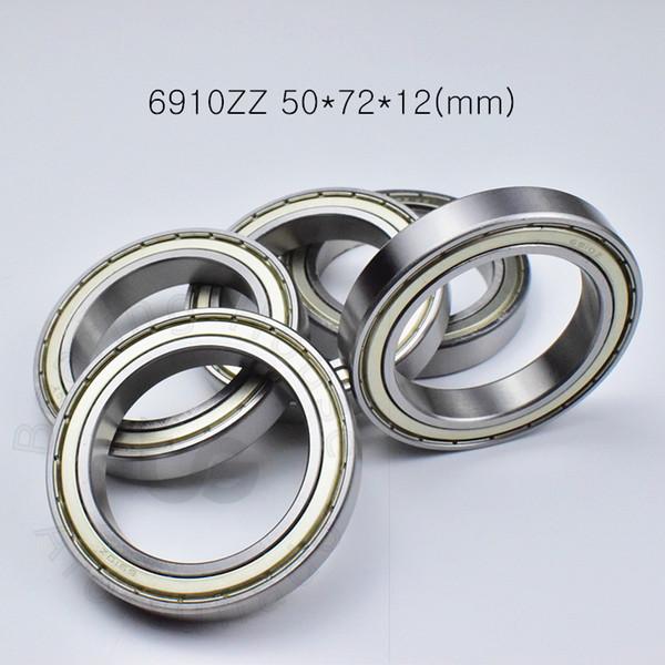 best selling 6910ZZ bearing Metal sealed bearings Thin wall bearing free shipping 6910 6910ZZ 50*72*12 mm chrome steel deep groove bearing