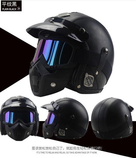 pianura maschera casco nero +