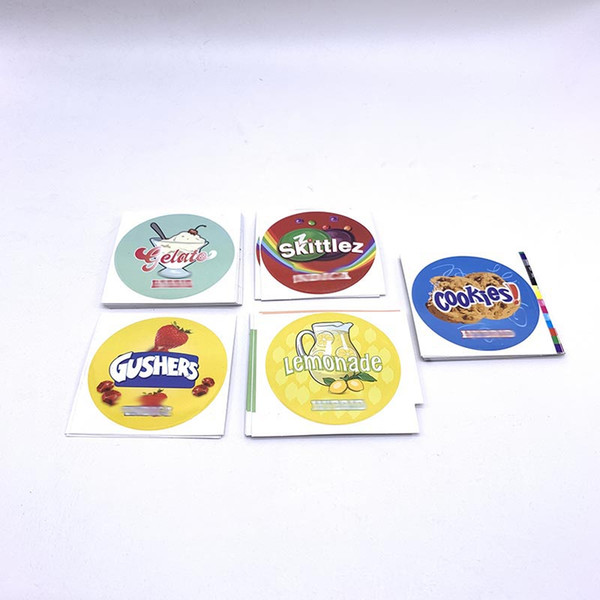 top popular Gushers Cookies Press It In Pressitin Labels For 73*23mm Tin Can Different Design Customize PVC Labels For 3.5G Tuna Tin Can 2021