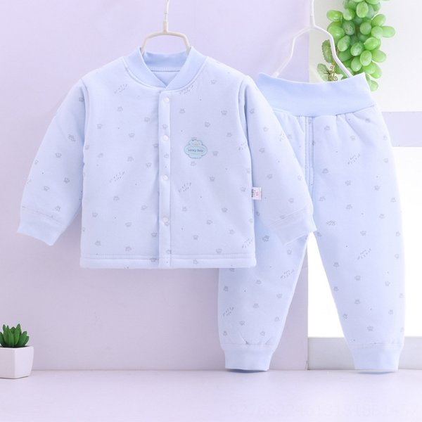 blue Crown cotton-padded clothes two-pie