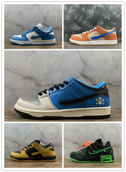 top popular sb dunk low sneakers skateboard running shoes sneaker OW ACG Instant Iowa Corduroy Dusty Peach trainer trainers kids adult high with box 2020
