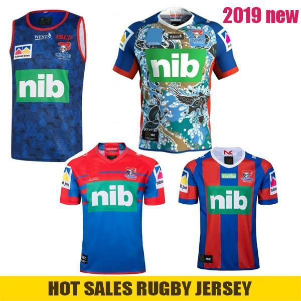best selling 2019 NEWCA STLE KNIGHTS Home Vest Rugby Jersey NEWCAS TLE KNIGHTS 2019 Indigenous Jersey Australia NRL Rugby League Jerseys Size S-3XL