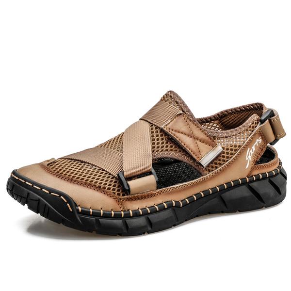 хаки сандалии