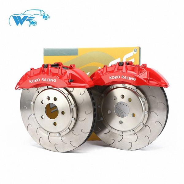 best selling KOKO RACING using car brake set V6 big 6 pot brake caliper racing cars disc 355*32mm disc for using for golf xy Vj1U#