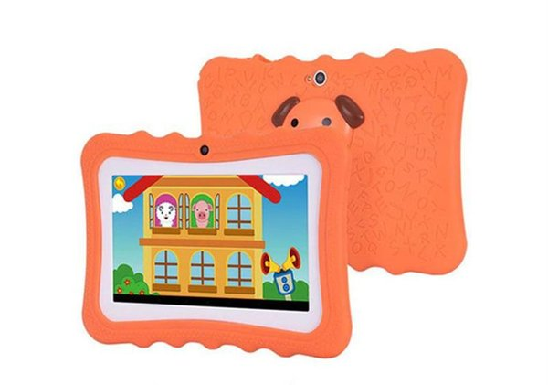 best selling 2020 Kids Brand Tablet PC 7 inch Quad Core children tablet Android 4.4 Allwinner A33 google player wifi big speaker protective cover-1