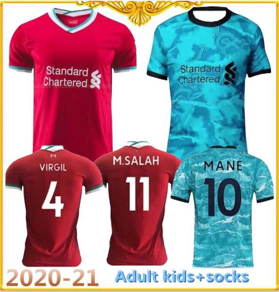 top popular New 2020-21 top quality adult Top Shirts kids Sportswear 2020 2021 home away child Maillot De Foot football shirt set uniforms 2020