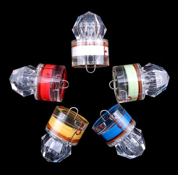 best selling Deep-sea diamond light lure night fishing LED fish lure poly fish underwater luminous waterproof fish trap gear