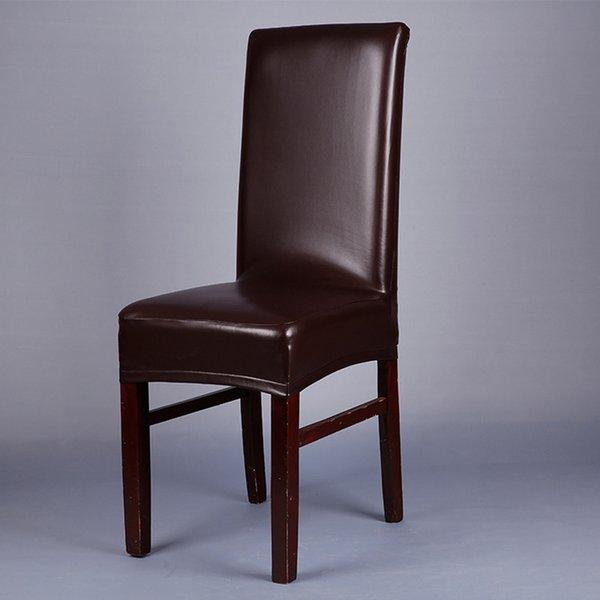 café cubierta de la silla de la PU sólida