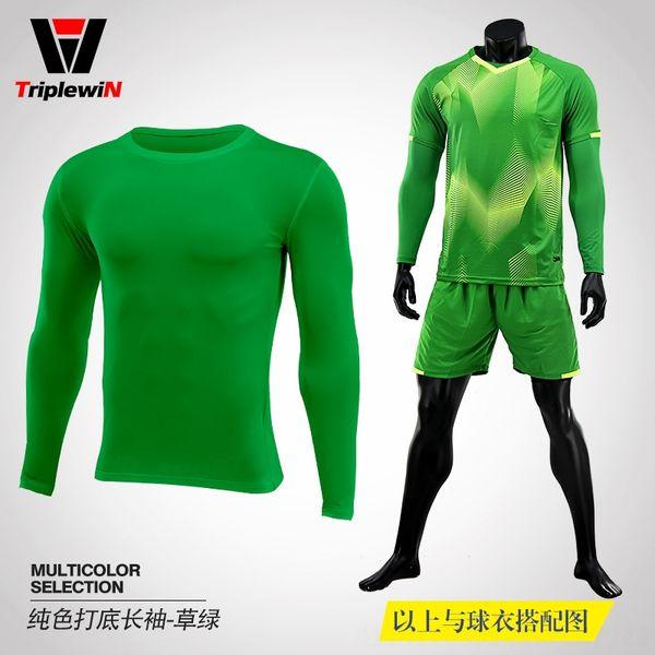 Solido di colore a maniche lunghe-Erba verde 801