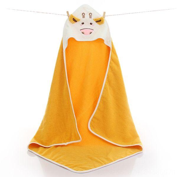 Small Cow Quilt Lemon Yellow-90 x