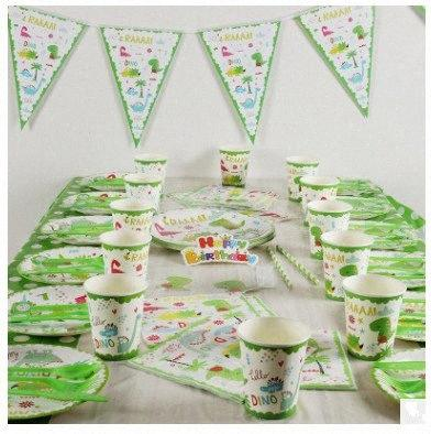top popular Dinosaur Party Disposable Tableware Sets Jungle Theme Cups Plates Kids Holiday Birthday Party Decoration Baby Shower Supplies qSy7# 2021
