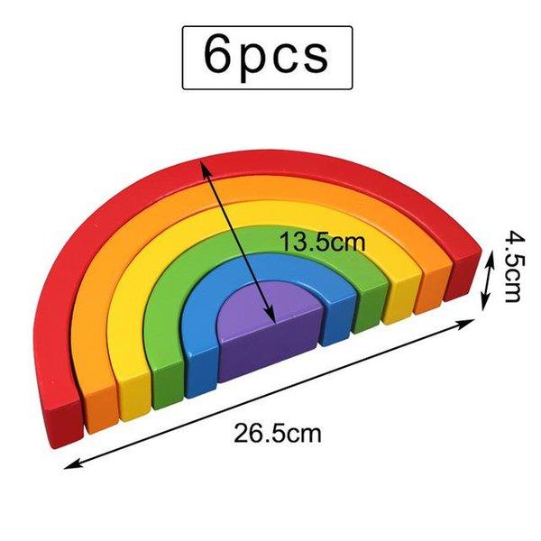 6PCS 26.5cm 무지개