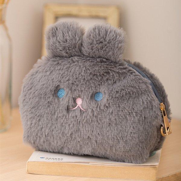 gray cosmetic bag