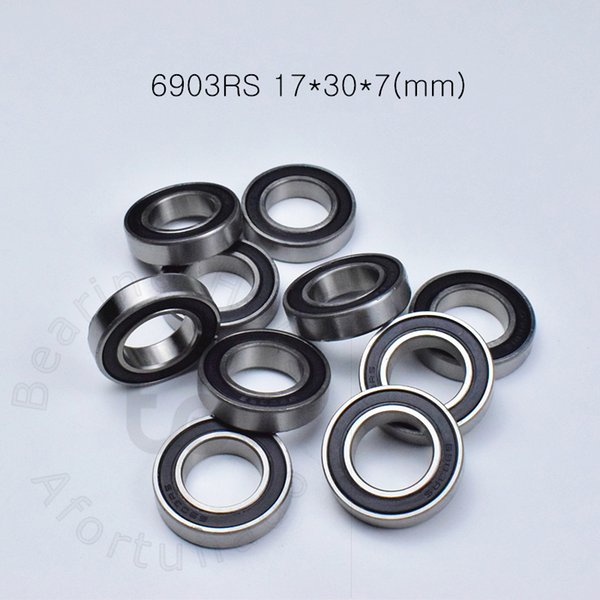 top popular 6903RS bearing free shipping 6903 6903RS 17*30*7 mm chrome steel deep groove bearing Rubber sealed Thin wall bearing 2021