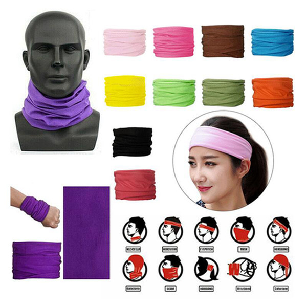 best selling Solid Magic Cycling Seamless Scarves Head Face Protective Mask Unisex Neck Gaiter Outdoor Sports Biking Tube Bandana Wristband Scarf IIA373