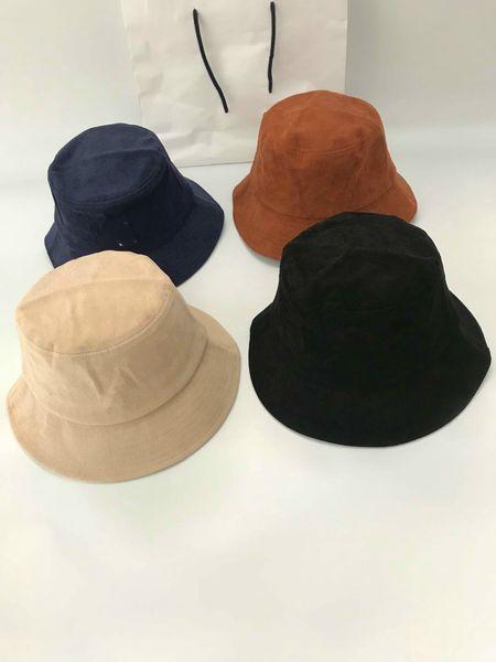 top popular kangaroo Bucket hat mens kange embroidery animal winter fall velvet warm fisherman basin bucket cap corduroy to one 2021