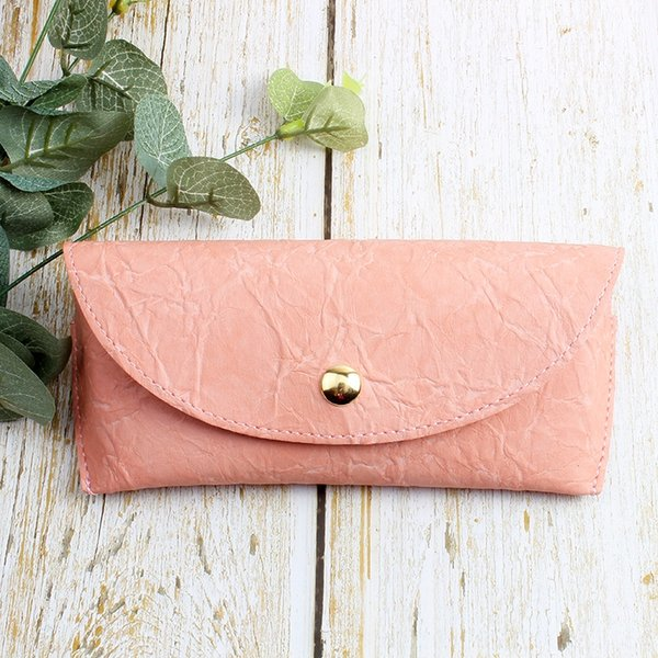 wrinkled pink leather box