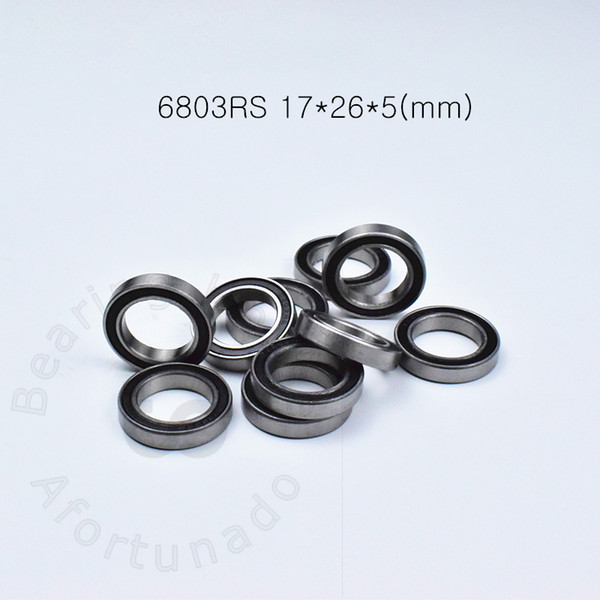 top popular 6803RS bearings free shipping 6803 6803RS 17*26*5 mm chrome steel Rubber sealed bearing Thin wall bearing 61803 2021