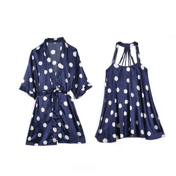 Robe Set Navy Blue