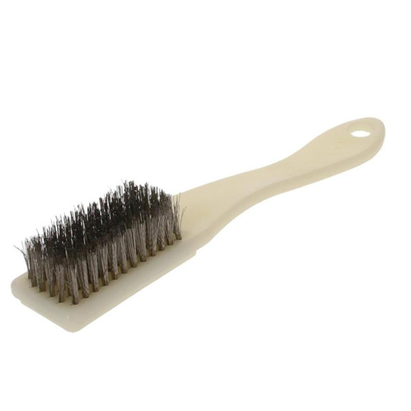 best selling Utoolmart 2 3 6pcs 6-Row Stainless Steel Wire Brush Plastic Handle 165mm x 27mm x15mm Size Cleaner Hand Tool For Cleaning