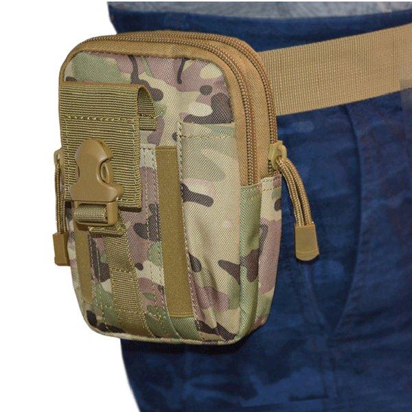 top popular Tactical camouflage Waist Bag waterproof multifunction out door sport bag sports waist pack for men women will and sandy drop ship 2020
