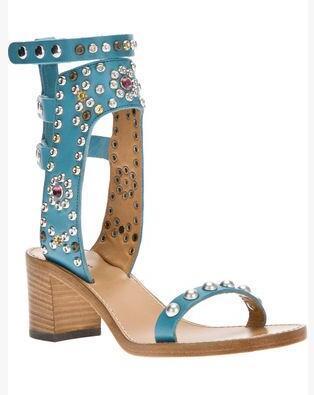 sky blue 6cm heel