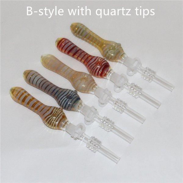 le style B avec des pointes de quartz