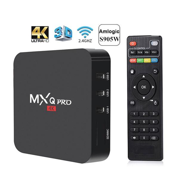 best selling MXQ Pro Smart Android 7 .1 TV Box Amlogic S905W Quad Core 1g 8g Wifi HD 4K Media Player PK X96 mini