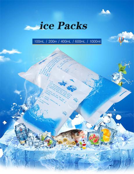 top popular ice Packs Reusable Freezer Packs Ice Bag Gel Cooler Bag For Food Reusable Fresh Food Ice Bag 100 200 600 1000ml 2021