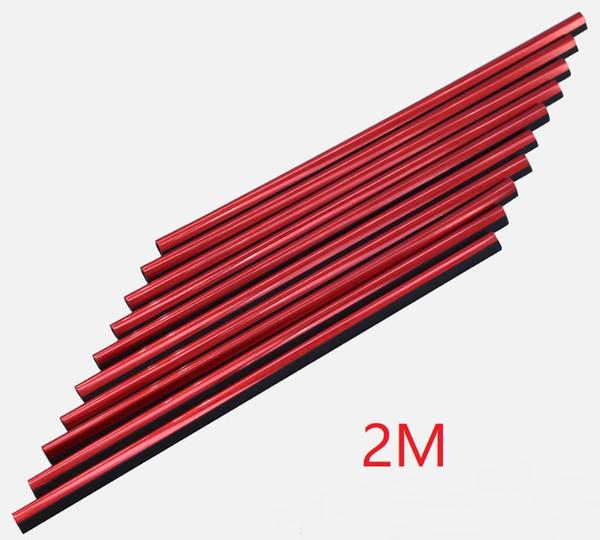 rojo, 2 m de largo