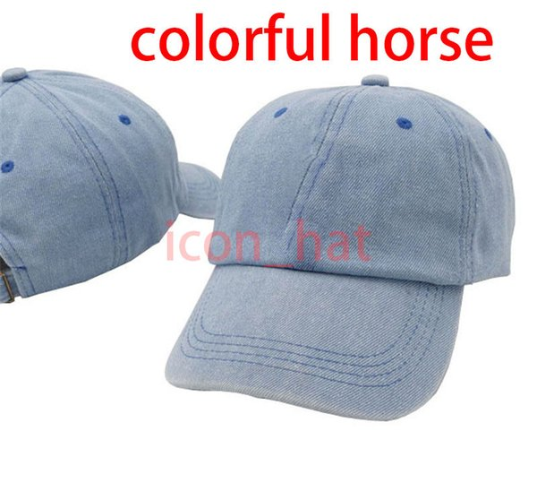 Denim Blue with Colorful horse