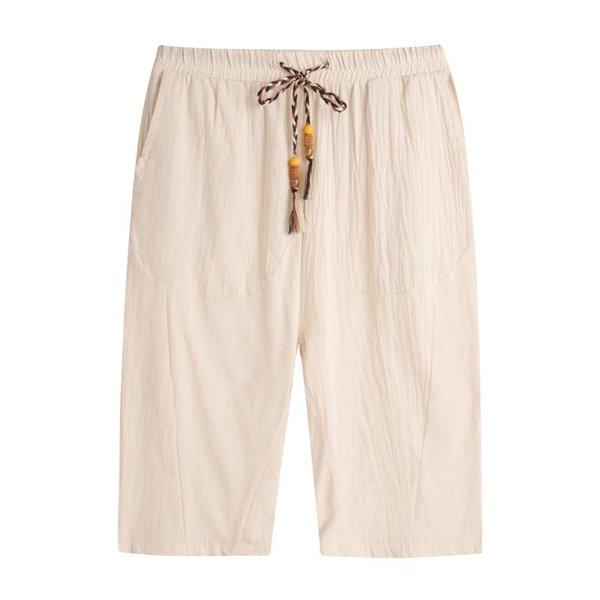 Beige pantaloni corti