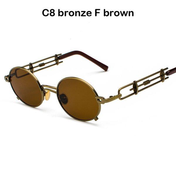 C8 bronze F marrom