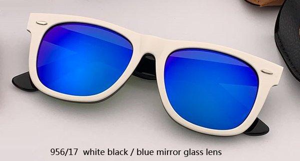 Lente a specchio bianco / blu 54 mm 956/17