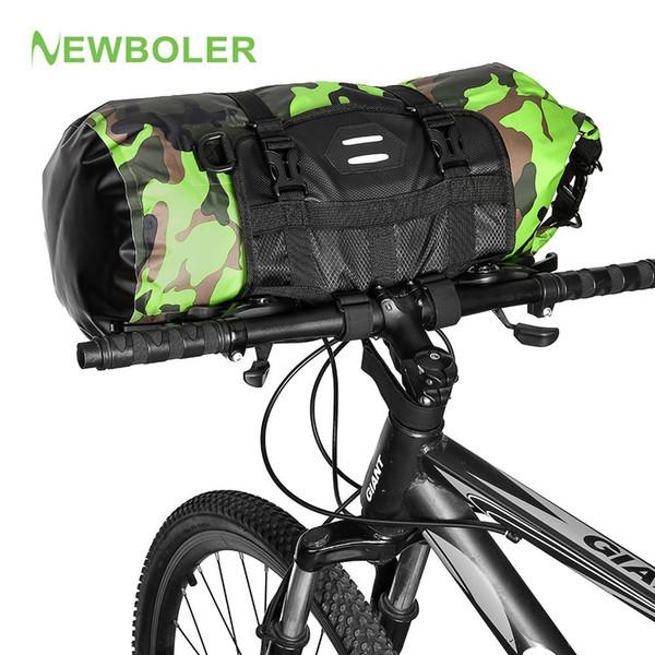 best selling NEWBOLER Bicycle Bag Big Capacity Waterproof Front Tube Cycling Bag MTB Handlebar Bag Front Frame Trunk Pannier Bike Accessories MX200717