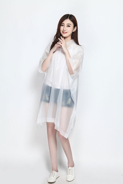 White Pullover Poncho-Length 130cm x Wid