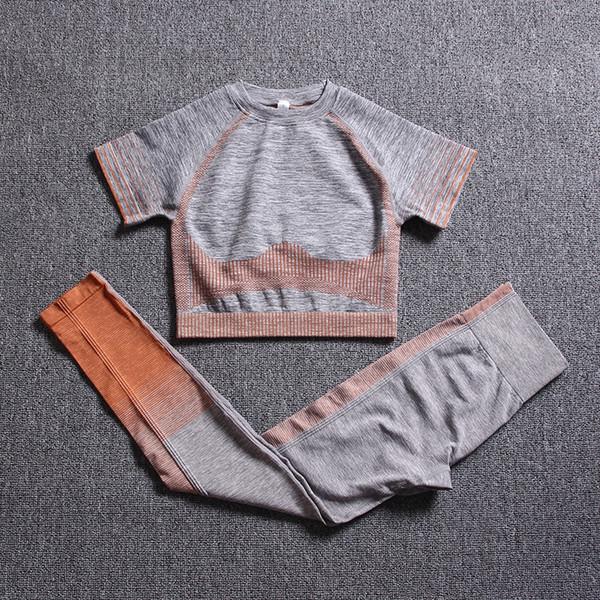 Laranja cinzenta de manga curta Suit