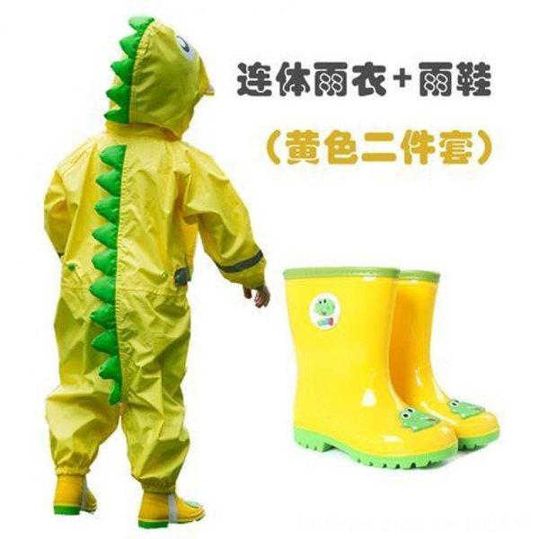 Dinosaur jaune siamois + Bottes de pluie