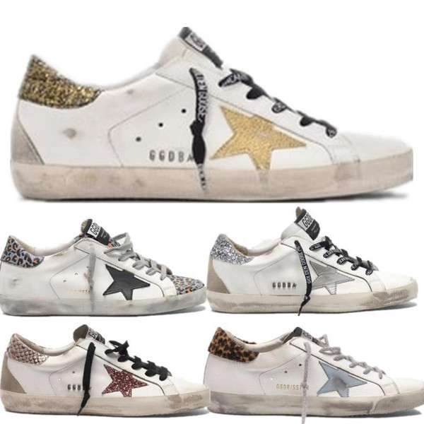 italy multicolor golden superstar gooses sneakers men women classic white do-old dirty shoes casual shoes size 35-45, Black