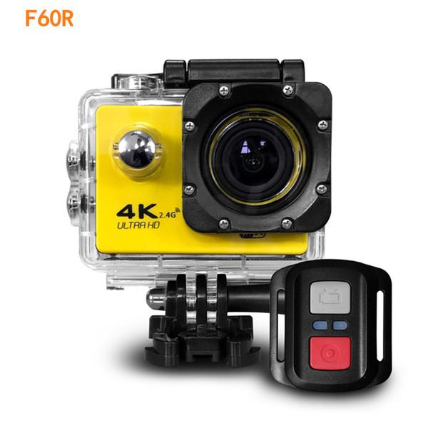 "top popular 2020- Action camera F60R 4K 30fps 1080p 60fps WiFi 2.0"" 170D Helmet Cam waterproof Sports camera+ Remote control 7 colors 2020"