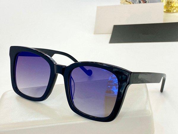 lente marco azul negro
