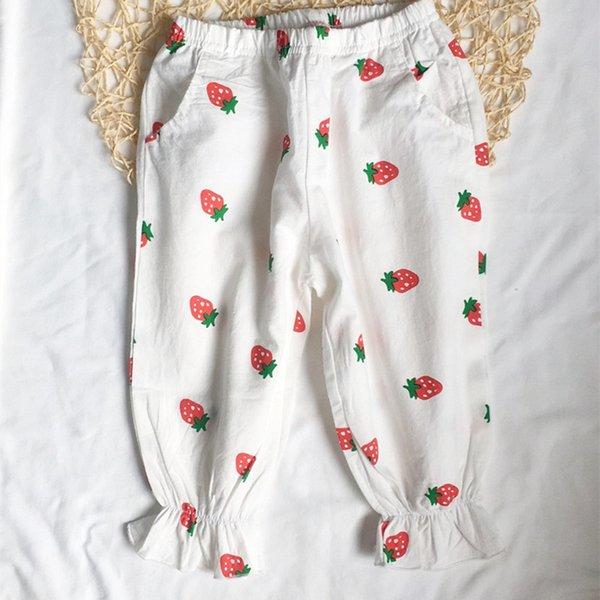pantaloni a prova di zanzara fragola bianca