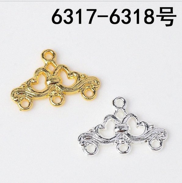 best selling 10pcs Bridal antique hair accessories material DIY alloy pendant manual stepping Hanfu tiara hairpin earrings pendant accessorie YPyf#