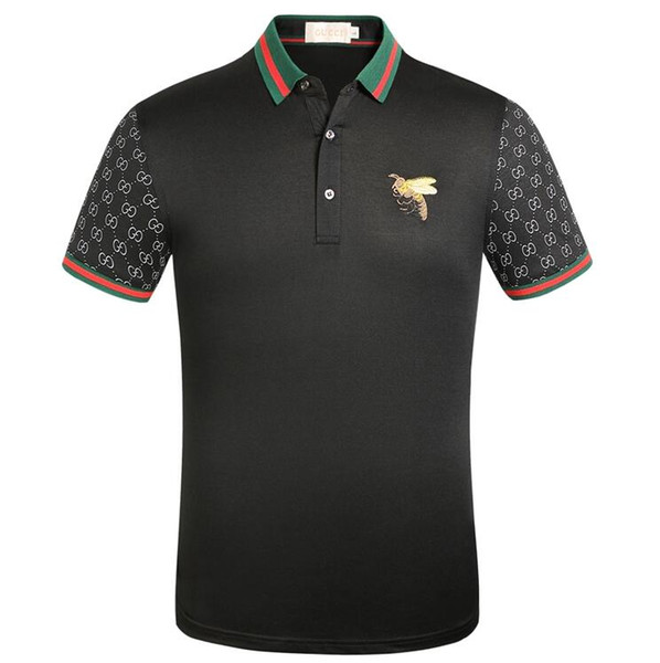 top popular 2020 Men's and women's T-shirts high quality designer brands, luxury little Bee Polo shirts,free delivery Guc̴ci t shirt 2020