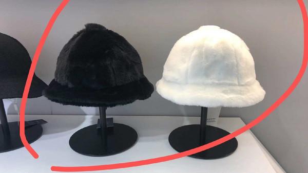 top popular kangaroo Bucket hat mens kange embroidery animal winter fall velvet fisherman hat Street thick and warm 2021