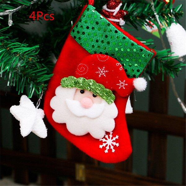 Père Noël-4Pcs 16X9cm