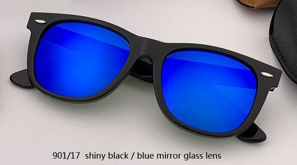 54 mm901 / 17 lenti a specchio nero / blu lucido